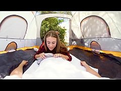 VR PORN - ANYA OLSEN ROCKING THE TENT AND GETTING FUCKED OUTDOORS