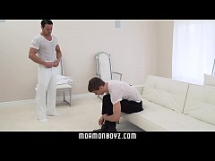 MormonBoyz- Daddy Gives Eager Twink Bareback Creampie
