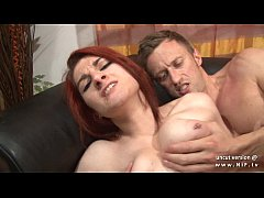 Casting couch of a big boobed french redhead babe hard sodomized