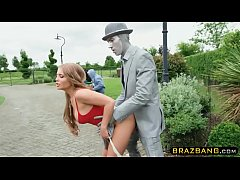 Girl gets fucked by statue