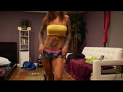 Felicity Feline Dancing and Stretching Flexible Fitness babe