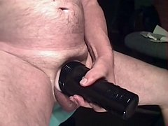 2 cumshots inside Fleshlight - sperm dripping