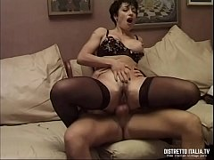 Anal toast with a slut brunette in sexy black s...