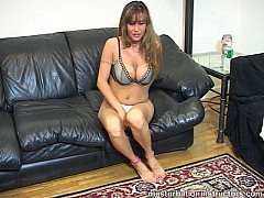Big titted instructor's proper jerk off demonstration