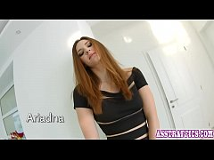 Rough pussy and anal sex leaves redhead eager to suck cock