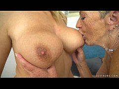 Busty granny and her younger lesbian friend - M...