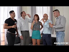 Anal Inspection of Tina Hot in Hardcore Double Penetration Group Sex Scene