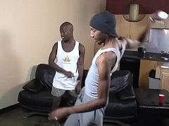 Nasty black guys have threesome orgy with anal and oral sex