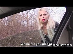 Blonde stranded Chloe gets banged hard for a free hot ride