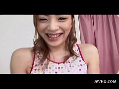 Japanese babe takes dildo's in both holes Uncen...