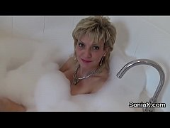 Your average milf lady bounces her gigantic boobs and loves fetish