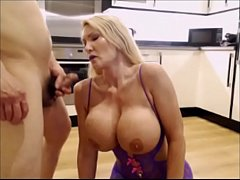 Big tits cougar gets a shafting and a cum shot !  -  Milfintros.com