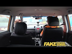 Fake Driving School Hot learner needs instructors big cock in her pussy and mouth to relax