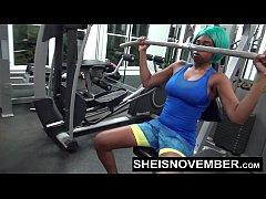 Young Black Girl Public Gym Blowjob By Sheisnovember