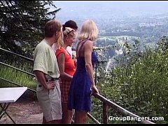 Outdoor sex party with some unbelievable