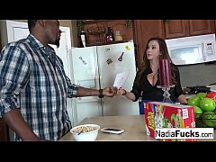 Nadia White Interracial Threesome