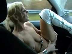 Welsh MILF Gets Naked And Fingers Her Pussy In A Moving Car- Boobsandtits.co.uk