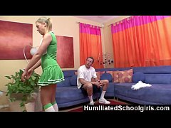 HumiliatedSchoolGirls - She spreads so well that her coach's cock rises