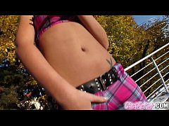 Give Me Pink Antonia teases herself with a big toy in her pink pussy