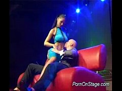 Busty stripper deepthroating