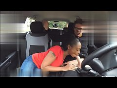 Fake Driving School pretty skinny black wife with nice natural breasts