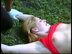 Young girl taken by two bad guys and abused in a park