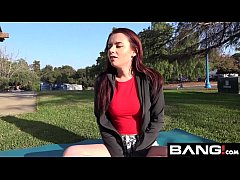 Red Head Amateur Drops Her Shorts & Gives A Public BJ