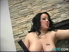 Canadian Plumper Krystal Loves Big Black Dildos