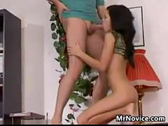 Petite 18 Year Old Girl Gets A Creampie