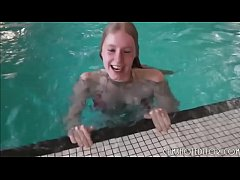 Fresh Blonde Teen Sucking And Fucking In A Pool...