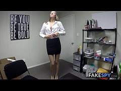 Adorable tall teen tricked into fucking for a job in POV