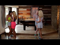 Lesbian couples swap each other - Riley Nixon and Elsa Jean