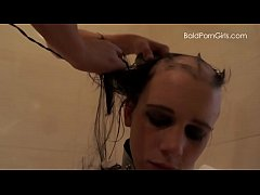Lesbian girl shaves her nude slut's head smooth bald - BaldPornGirls.com