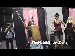 Exxxotica Chicago Series.. Marine gets Beat down by cute Hoes P1