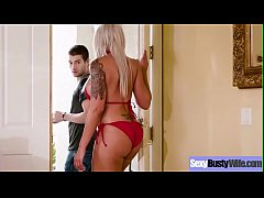 (Nina Elle) Housewife With Big Juggs Love Intercorse On Camera Clip-19
