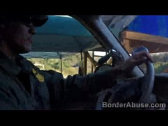 BorderAbuse-6min-29-05-2015-Nasty-border-patrool-surveys-pretty-brunette-with-great-deliberation-720