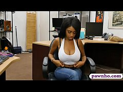 Busty ghetto drilled by nasty pawn dude