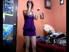 Hot mexican girl strips