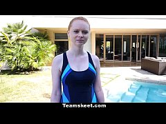CFNMTeens - Pale Redhead Fucked By The Swimming...