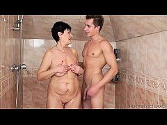 Grandma Anastasia on young cock
