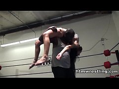Black Dude Manhandles White Bitch - Interracial Maledom Mixed Wrestling