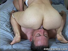 In a sixty-nine position for ass munching and cock sucking