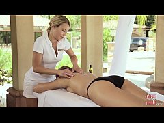 GIRLS GONE WILD - Masseuse Audra Gives Her Client A Very Relaxing Rub Down