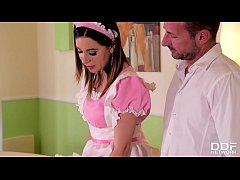 Gorgeous Maid Ally Breelsen begs for a DP Fuck