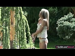Petite Russian beauty Gina Gerson kissing her guy in the backyard.She takes his cock in her mouth and sucks him off before getting her pussy licked while he fingers her ass.All horny she anal rides his cock while rubbing her pussy