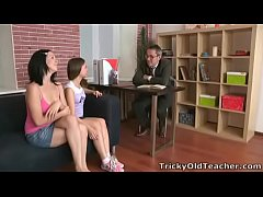 Tricky Old Teacher - Emily and her friend are struggling in their teachers class