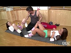 Gorgeous Gym Babes Fucked Trainer's Brains Out