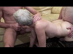 Old woman makes a threesome with her nephew and...