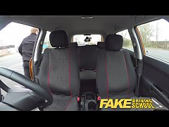 Fake Driving School busty jailbird goes on a wi...