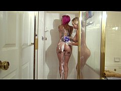 Anna Bell Peaks has in Shower